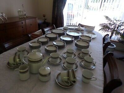 91 Piece Noritake Dinner, Serving And Tea Service - Chalice 6953 • 299£