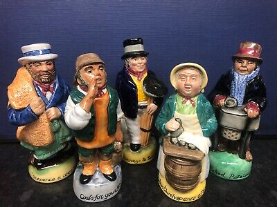 Franklin Mint Pottery Cries Of London Toby Jugs, Set Of 5 • 10£