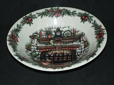 Royal Stafford Christmas : BOWL Fireside Wreath 10.5  SERVING VEGETABLE DISH New • 12.50£