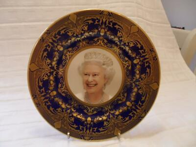 Caverswall Cobalt Blue With Gold Design Collectors Plate 2012 Diamond Jubilee • 16.99£