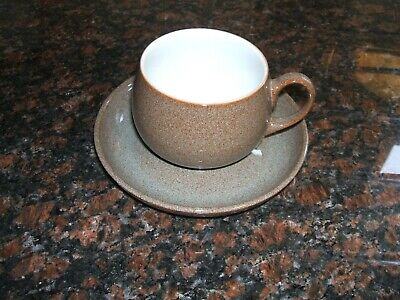 Denby Greystone Teacups And Saucers - 4 - New • 3£
