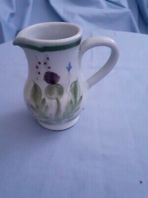 Small Buchan Stoneware Jug- Thistle Pattern - Height 10 Cms/4 Inches • 9£