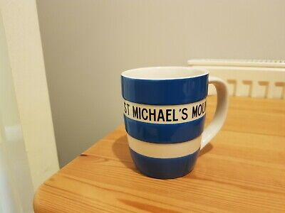 T G Green Cornishware Mug. St Michaels Mount. Blue. • 12£