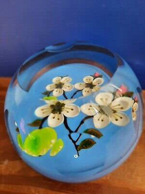 Whitefriars Caithness Limited Edition Glass Paperweight Apple Blossom #122/250 • 120£