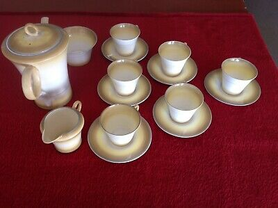 Shelley Art Deco Coffee Set Very Rare -A1 Condition, Valued 3 Years Ago At £350. • 40£