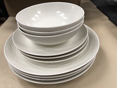 Royal Doulton Gordon Ramsay Maze Crockery Bowls Plates And Side Plates Set Of 10 • 42£