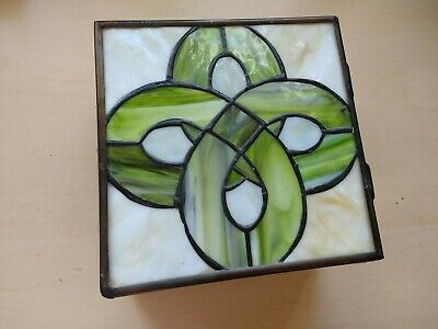 Antique/Vintage Art Deco Stained Glass Jewelry Box  Rare • 18.99£