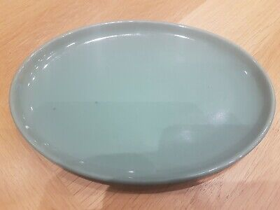 Vintage Manor Green Oval Plate 10 X 7 Inches • 6£