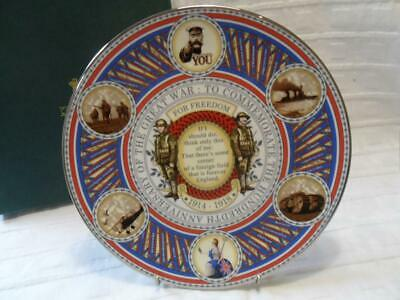 Caverswall 100th Anniversary Of The Great War 1914-1 Collectors Plate (NEW/Boxed • 12.50£