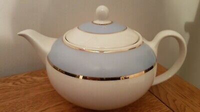 Blue White & Gold Royal Doulton Teapot Designed By Bruce Oldfield 2004  • 35.99£