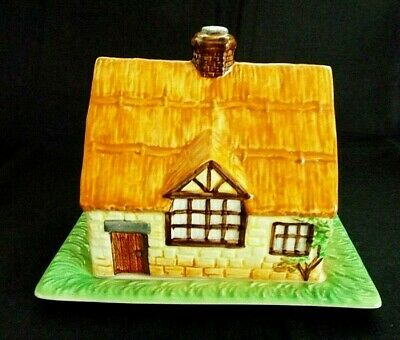 VINTAGE BESWICK HAND PAINTED HOUSE CHEESE DISH  1930's • 7.95£