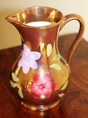 Oldcourt Pottery Lustre Ware Jug With Flowers • 12£