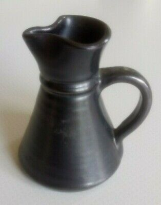 Pewter Coloured Ceramic Jug By Prinknash, Superb Condition, 3 Inches High • 3.95£