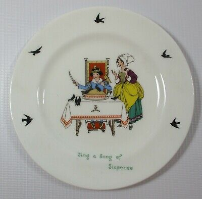 Vintage Sing A Song Of Sixpence Nursery Rhyme Side Plate By Royal Doulton • 4.99£