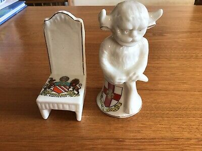 Arcadian Crested China Lincoln Imp & Chair Excellent Condition • 9.99£