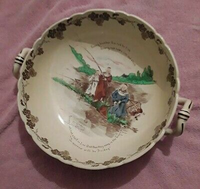 Antique The Foley Faience Large Punch Bowl 1890s Punch Bowl Friar Tuck  • 36.50£