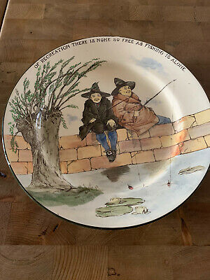 Royal Doulton Series Ware Pottery Plate The Gallant Fishers D3680 C1920 • 45£