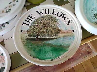 Vintage David Sharp Rye Pottery House Large Wall Plaque The Willows 34 Of 37 • 15£