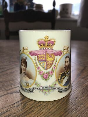 Antique Commemorative Mug For Coronation Of George V 1911 • 2.10£