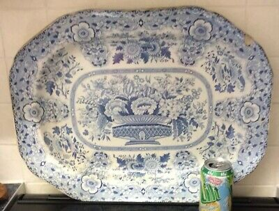Large Minton Blue & White Charger • 40£