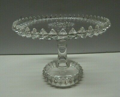 Large Vintage Pressed Glass Cake Stand • 12£
