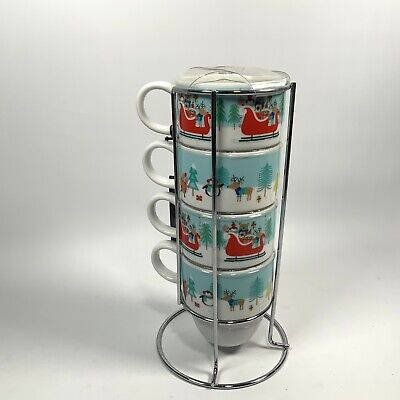 Tea / Coffee Stacking Cups Christmas Design Brand New With Tags • 14.99£
