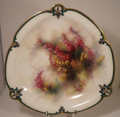 Superb Hadleys Worcester Shaped Hand Painted 9.5  Plate  • 125£