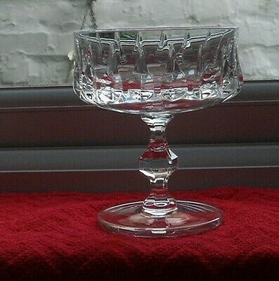1 Vintage Cut Glass Crystal Champagne Coupe/glass • 4.99£