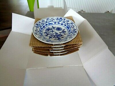 Zwiebelmuster Blue Onion  6 Soup / Pasta Plates Unused * * * • 85£