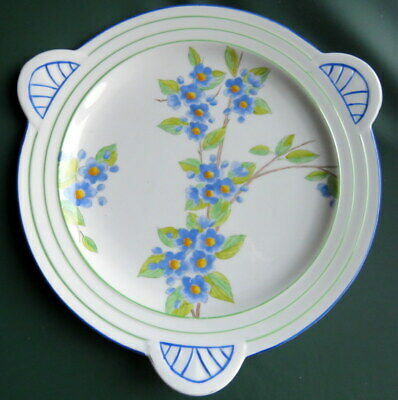 Lovely Art Deco - FOLEY - Hand Painted Cake / Sandwich Plate • 14.99£