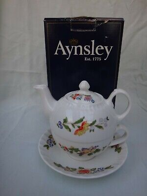 Aynsley Cottage Garden Tea For One. Boxed # • 21.99£