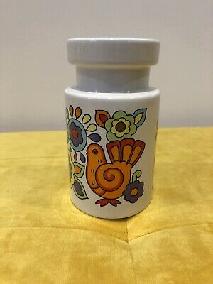 60's MidCentury Lord Nelson Pottery Gaytime 5  Sugar Flour Shaker Sifter  • 14£