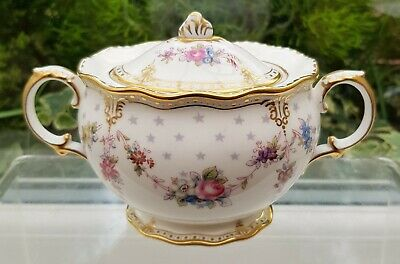 Royal Crown Derby 'royal Antoinette' Small Covered Sugar Bowl • 145£