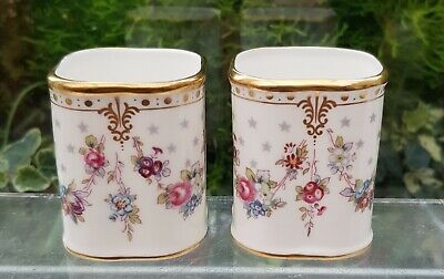 2 X ROYAL CROWN DERBY 'ROYAL ANTOINETTE' TOOTHPICK HOLDERS • 75£