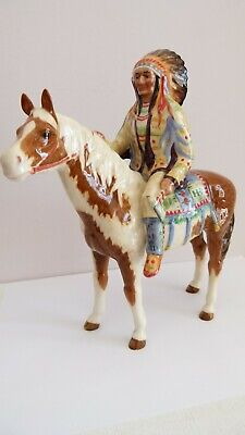 Beswick Pottery 'Mounted Indian' Figurine - Model No. 1391 • 295£