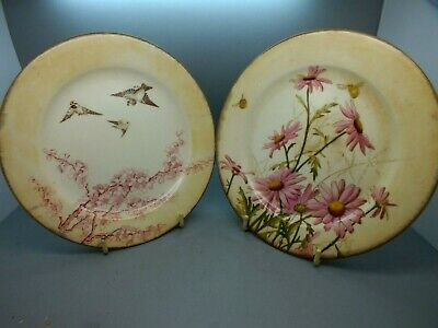 Pair Of Mid 19th C Tea Plates From George Jones & Sons, Stoke Circa 1865 & 1875 • 12.30£