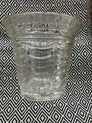 Vintage Clear Cut Glass Plant Pot • 10.99£