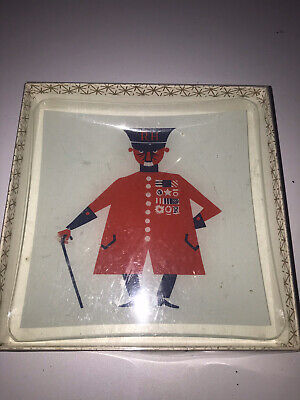Kenneth Townsend Chance Glass Chelsea Pensioner Dish - Sights Of London Series • 19.99£