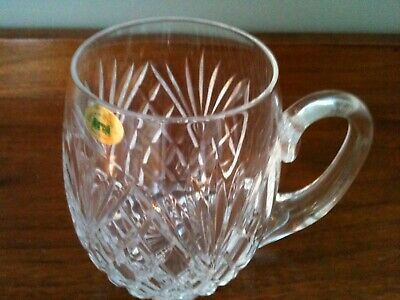 Tyrone Crystal Beer Tankard GLASS,  Blarney Pattern, NEW WITH LABEL • 15£