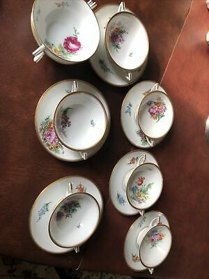 Thomas Bavaria China Cream Soup Bowls Antique Vintage  • 45£