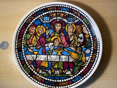 Lord Nelson Pottery Plate Depicting Chartres Cathedral Stained Glass  • 8£