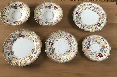 VINTAGE HAMMERSLEY CHINA QUEEN ANNE 13166 Collection 6 Pieces • 34.99£