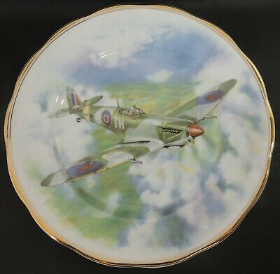 Fenton China Decorative Plate- Spitfire- Lone Patrol - MD Hague - Thames Hospice • 18£