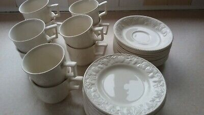 10 BHS LINCOLN CUPS & SAUCERS And 10 SIDE PLATES - GREAT CONDITION Job Lot Cafe • 20£