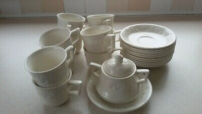 10 BHS LINCOLN CUPS & SAUCERS - GREAT CONDITION  And Sugar Bowl Job Lot Cafe • 20£