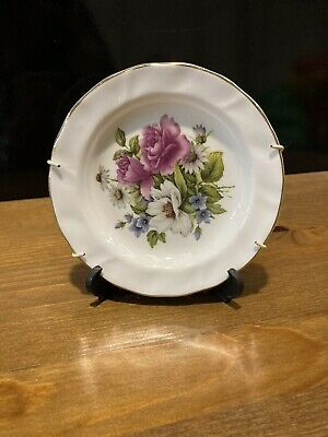 Vintage Fenton Bone China Floral Roses Tea Plate • 3.40£