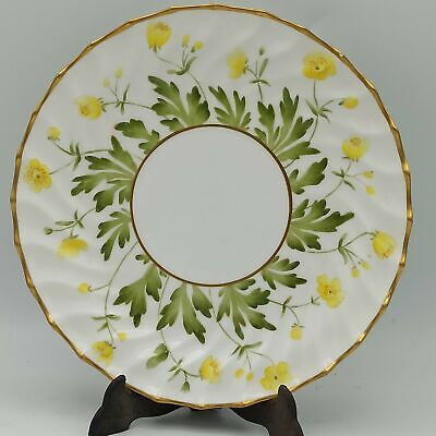 Antique 1890 Copeland Plate With Yellow Flowers 19.5cm • 10£
