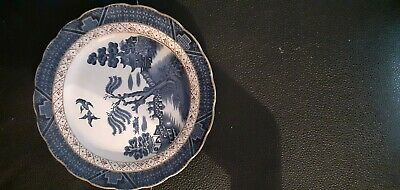 Booths Real Old Willow Dessert Plates X2 • 5£