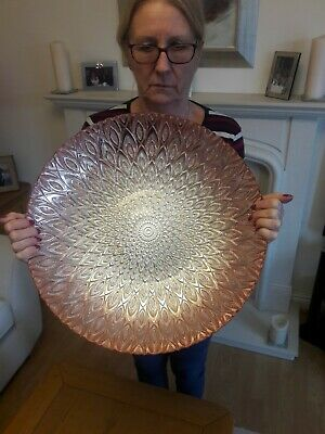 Large Round Carnival Glass Bowl Very Large And Very Beautiful COLLECT ONLY • 25£