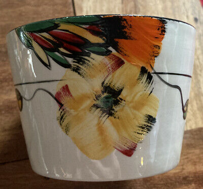 Art Deco Hand Painted Bowl -1930s EMPIRE IVORY WARE. Handcraft.Vibrant Colours. • 10£